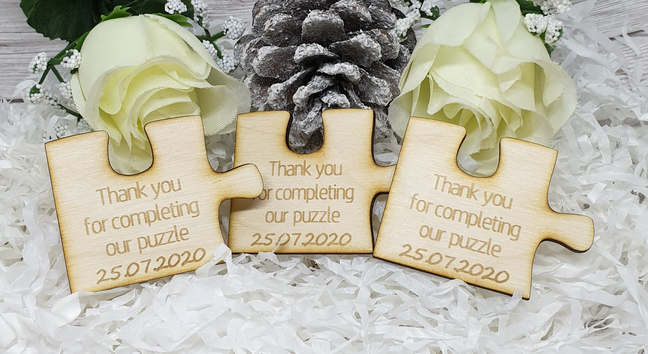 Wooden Jigsaw Puzzle Wedding Favour